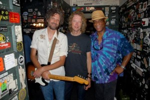 One half of Big Hat: Audley Freed, Peter Stroud, and Ike Stubblefield. Big Hat Band