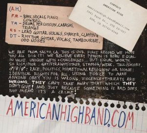 American High inside cover